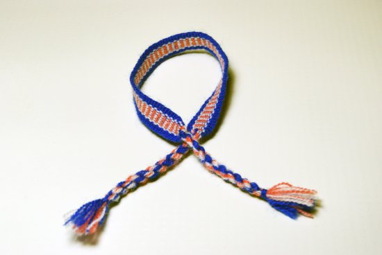 Blue, Pink and White Thread Friendship Mexican Bracelet