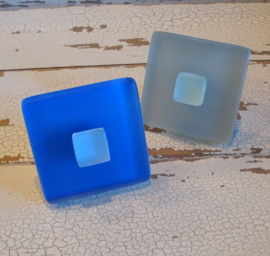 Two Seaglass Cabinet Knobs Beach Glass Drawer Pulls Bronze