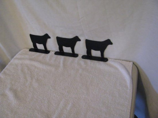 Beef Calf Mailbox Topper Small Metal Farm livestock Art Silhouette set of 3