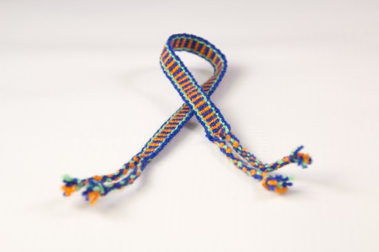 Blue and Orange Friendship Bracelet