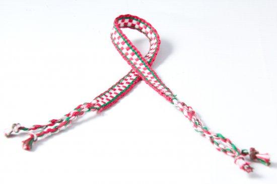 Red and White Friendship Bracelet
