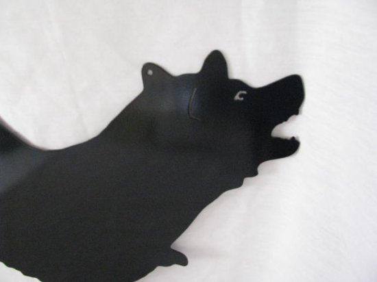 German Shepherd 004 M Metal Wall Yard Art Dog Silhouette