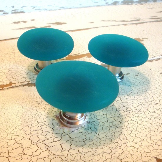 Freeform Beach Glass Cabinet Knobs