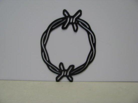 Barbwire 038 Circle Metal Wall Western Silhouette Art,