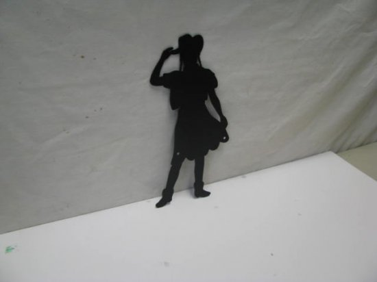 Cowgirl 123 Western Metal Art Silhouette