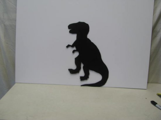 T Rex E Metal Wall Yard Art Dinosaur Silhouette