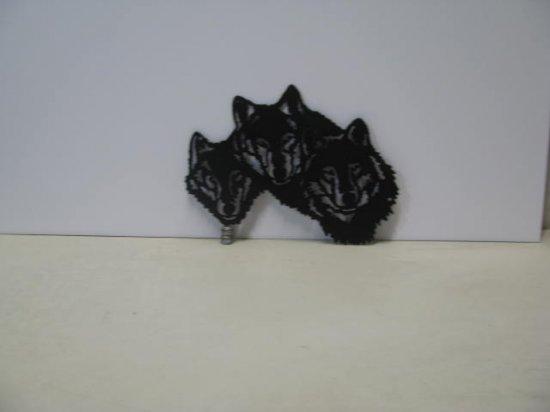 Wolf Trio Metal Art Silhouette