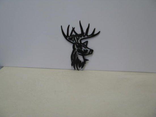 Deer Head 074 Wildlife Metal Art Silhouette