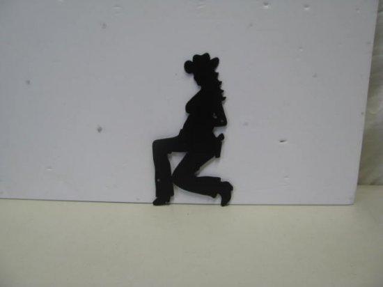 Cowgirl 118 002 Western Metal Wall Yard Art Silhouette