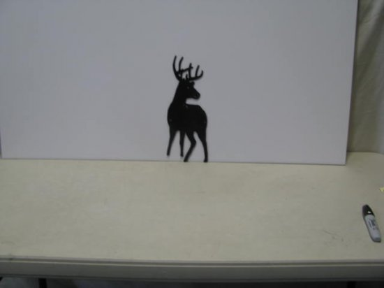 Buck 006 Wildlife Metal Art Silhouette