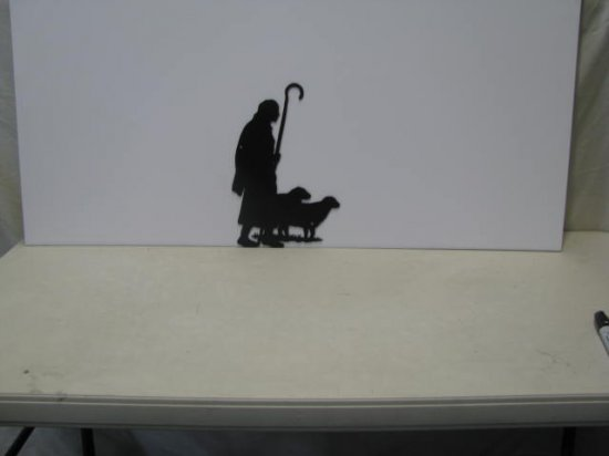 Shepherd 001  Metal Art Silhouette