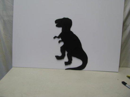 T Rex Dinosaur Metal Art Silhouetteble)