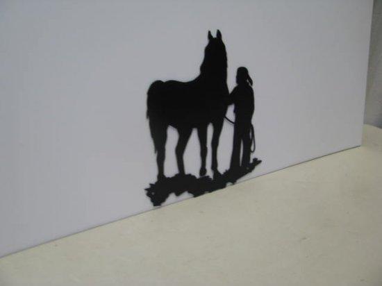 Cowgirl 012  Western Metal Art Silhouette