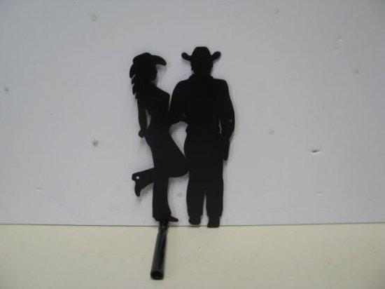 Cowboy Love 006 Western Romance Metal Art Silhouette