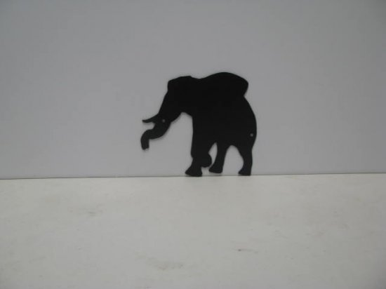 Elephant 003 Metal Art Silhouette