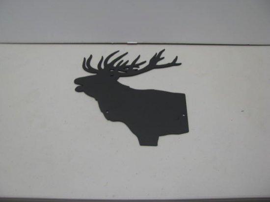 Bull Elk Wildlife Metal Wall Yard Art Silhouette
