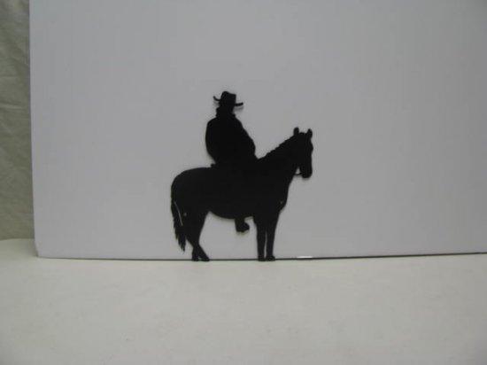 Horse Rider 005 Western Metal Wall Yard Art Silhouette