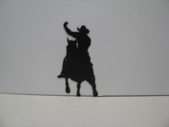 Horse Rider 006 Western Metal Wall Yard Art Silhouette