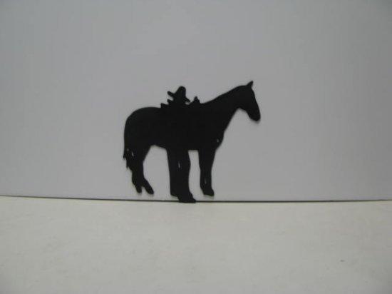 Horse Rider 019 Western Metal Wall Yard Art Silhouette