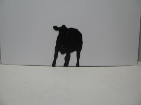Cow 006 Western Metal Wall Yard Art Silhouette