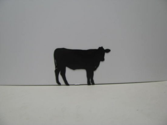 Cow 049 Western Metal Wall Yard Art Silhouette