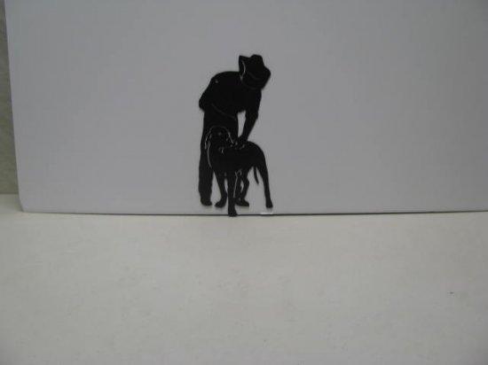 Cowboy 012 Western Metal Wall Yard Art Silhouette