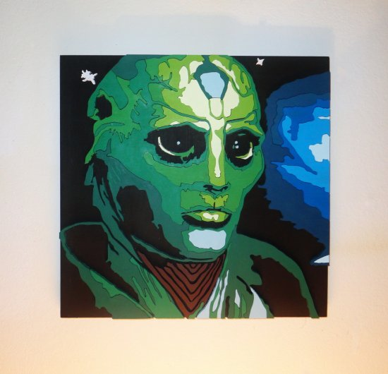 Handmade Thane Krios, Mass Effect portrait