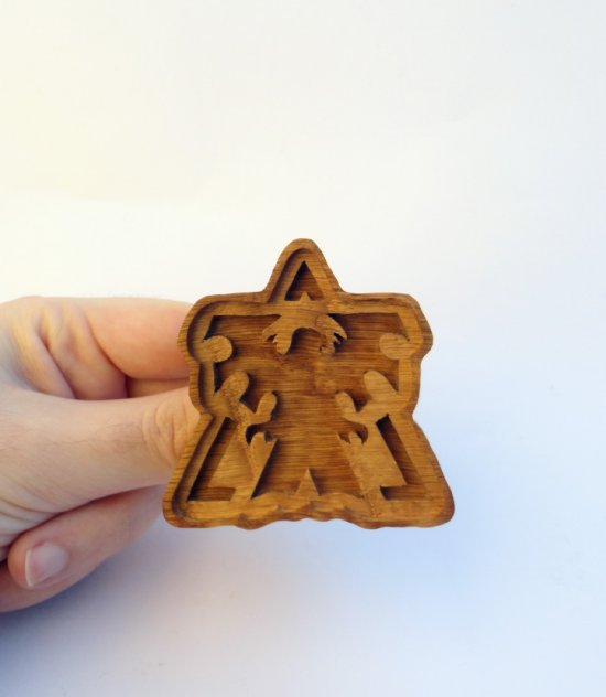 Handmade Starcraft 2 Terran cookie mold - including recipe and instructions