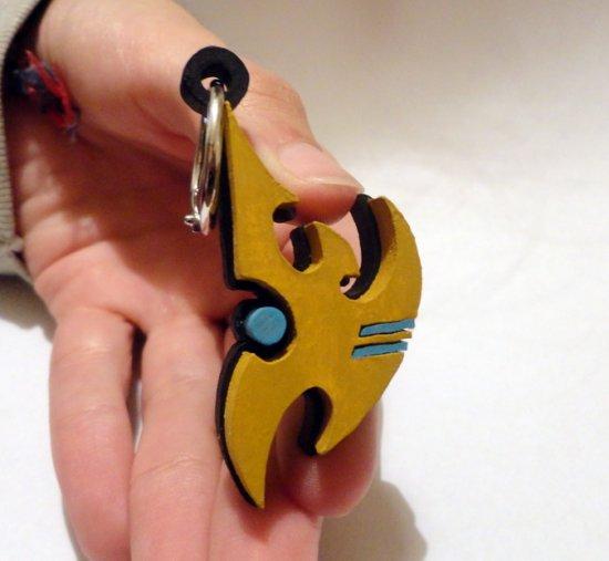 Handmade Starcraft 2 protoss keychain