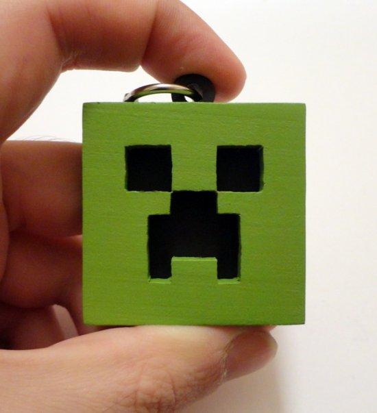 Handmade Minecraft keychain