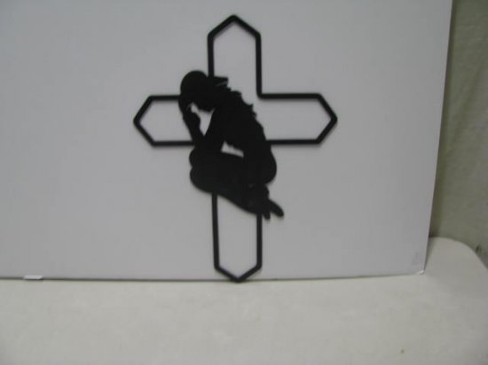 Cowgirl Praying 005 Western Metal Wall Yard Art Silhouette