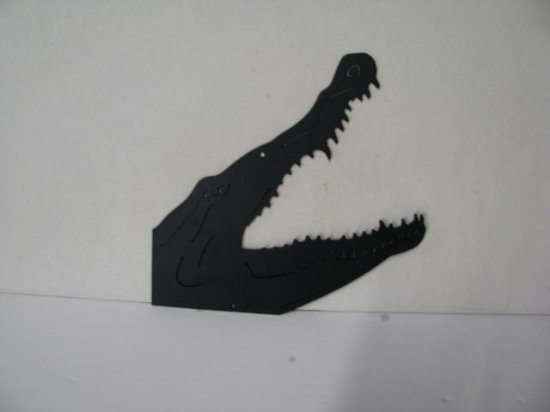 Alligator Head 175 Metal Wildlife Wall Yard Art Silhouette