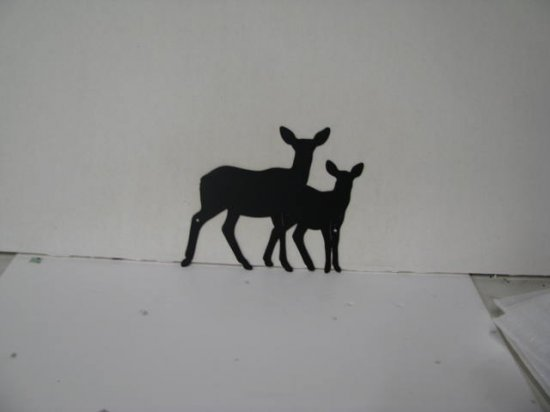 Deer Pair 300 Metal Wildlife Wall Yard Art Silhouette