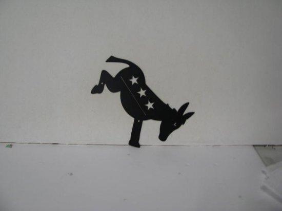 Democrat Metal Wall Yard Art Silhouette