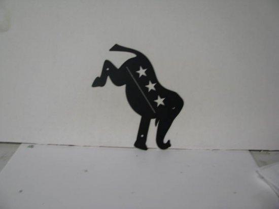 Republican Metal Wall Yard Art Silhouette