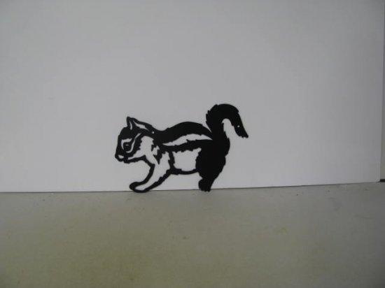 Chipmunk 006 Metal Wildlife Farm Wall Yard Art Silhouette