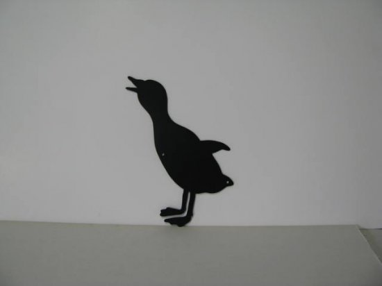 Duckling 004 Metal Wall Yard Art Silhouette