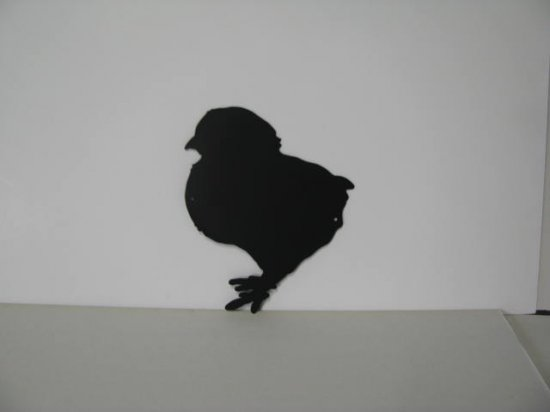 Baby Chick 004 Metal Wall Yard Art Silhouette