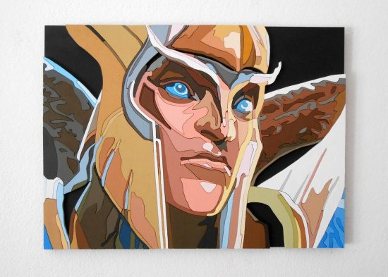 Handmade Skywrath Mage, Dota 2 portrait