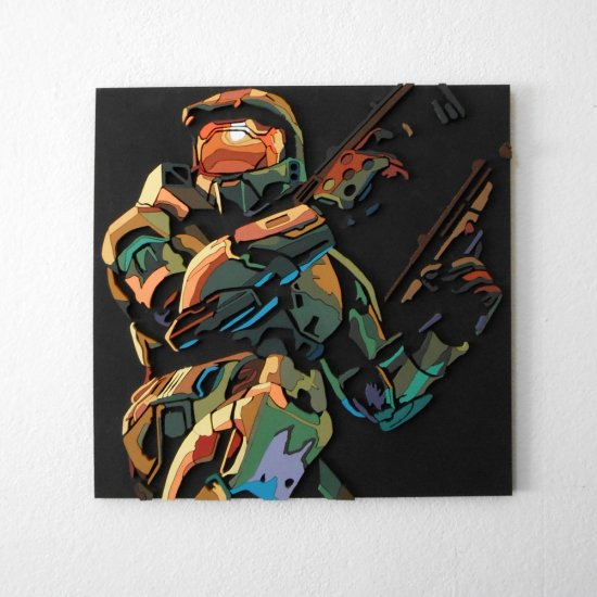 Handmade Halo 2 wall hanging (Large)