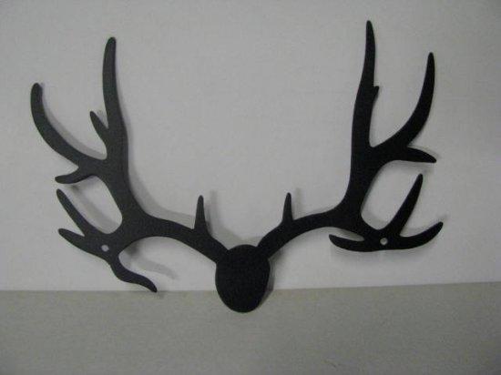 Deer Horns 296 Small Metal Art Silhouette