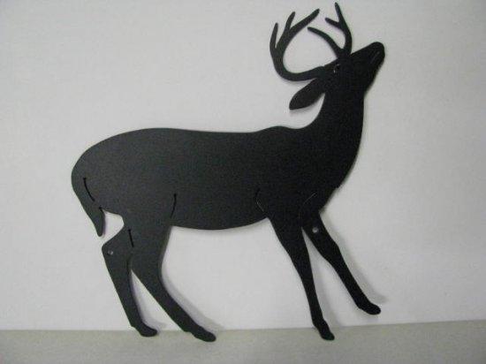 Whitetail Deer 198 Small Metal Art Silhouette