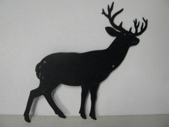 Whitetail Buck 155 Small Metal Art Silhouette