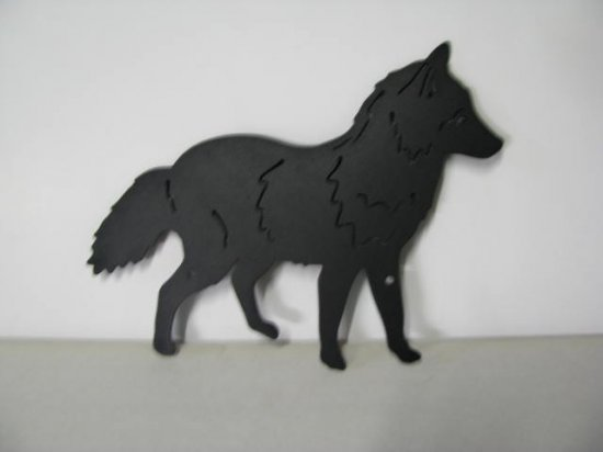 Red Fox Metal Art Silhouette
