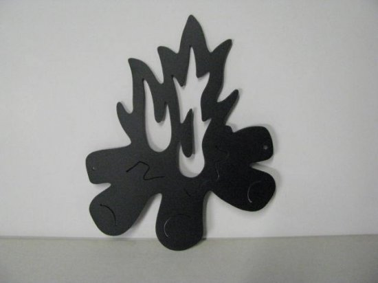 Camp Fire 428 Metal Art Silhouette