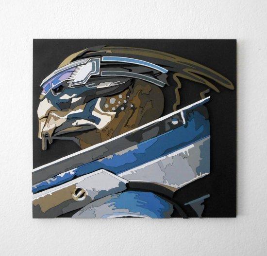 Handmade Garrus Vakarian (color), Mass Effect portrait