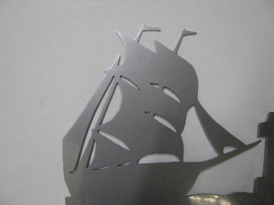 Sailing Ship 001 Metal Wall Art Silhouette