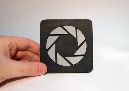 Handmade Aperture Science coaster