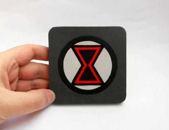 Handmade Black Widow, Avengers coaster