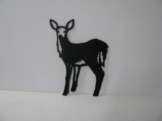 Deer 065 Large Standing Wildlife Metal Art Silhouette